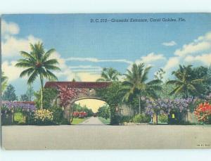 Linen GRANADA ENTRANCE Coral Gables - Miami Florida FL H6255