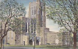 New Jersey Princeton Entrance To The Harvey S Firestone Memorial Library 1950