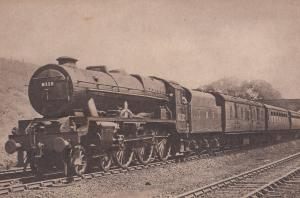 LMS Royal Scot Class 4-6-0 Train 6112 Train at Chester Railway Station Postcard