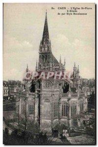 Caen Postcard Ancient Church St Pierre L & # 39abside pure Renaissance