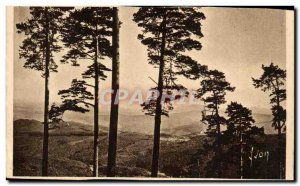 Andlau Old Postcard The forest view of Mont Saint Odile