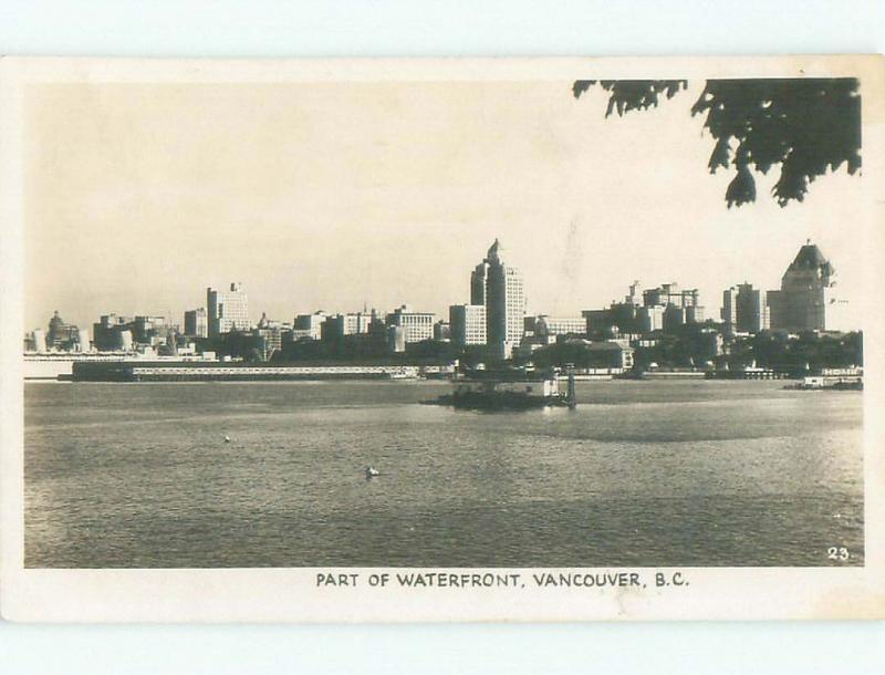1950's rppc NICE VIEW Vancouver British Columbia BC W0963