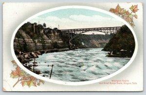 Niagara Falls New York~Whirlpool Rapids & Great Gorge Route~Bridge~1914