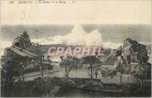 Old Postcard Biarritz The Rock of the Virgin