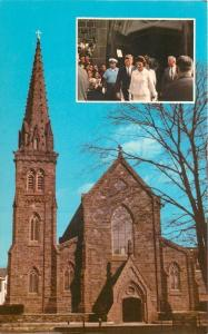 Newport Rhode Island~St Marys Church~President & Mrs Kennedy c1961~1964 Postcard