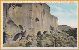 Ruins of Puye, Great Prehistoric Cliff Dwelling in Pajarito Park, New Mexico