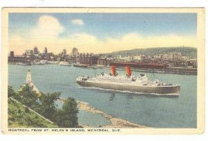 Steamer/Ship, Montreal From St. Helen's Island, Montreal, Quebec, Canada, PU-...