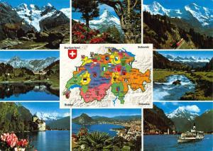 Switzerland Piz Bernina Engelberg Chillon San Salvatore Fluelen Monch Postcard