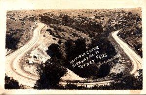 Oklahoma Davis Turner Falls Hairpin Curve Highway No 11 Real Photo