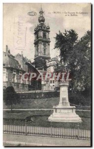 Old Postcard Mons St Germain Square and the Belfry