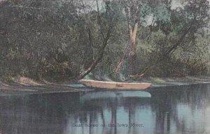 Iowa Boat Scene On The Iowa River
