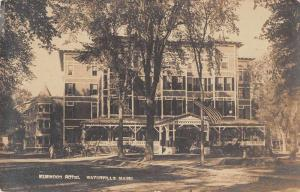 Waterville Maine Elmwood Hotel Real Photo Antique Postcard J78193