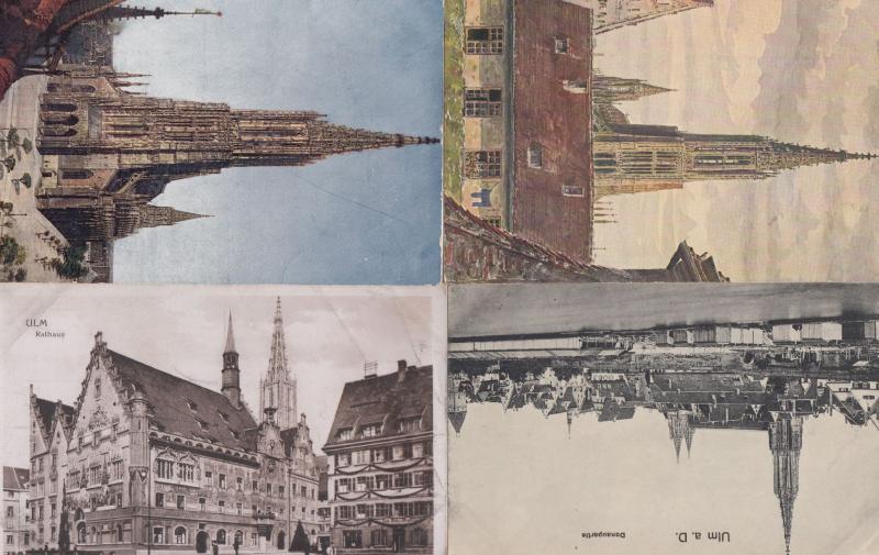 Ulm Rathaus Kirche Blick Auf Das Munster 4x German Church Postcard s
