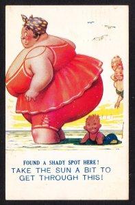 Bamforth comic card  - Shady Spot 1940