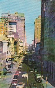 Tennessee Memphis Madison Avenue Looking East 1956