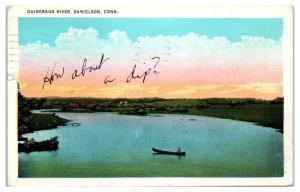 1934 Quinebaug River, Danielson, CT Postcard