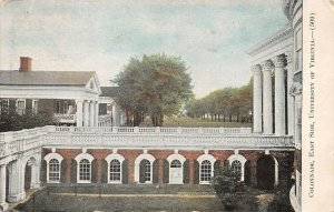LPS65 University of Virginia Postcard Colonnade East Side View