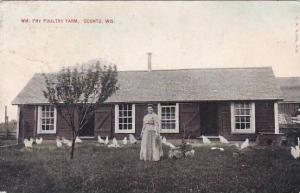 Wisconsin Oconto William Pry Poultry Farm 1910
