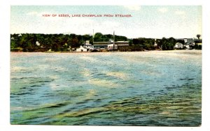NY - Lake Champlain. View of Essex from Steamer