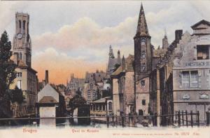 Bruges , Belgium , 00-10s ; Quai du Rosaire