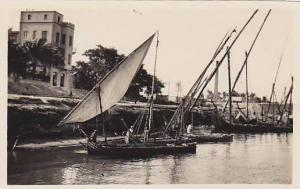 Boats on the Nile , Egypt , 1900-10s