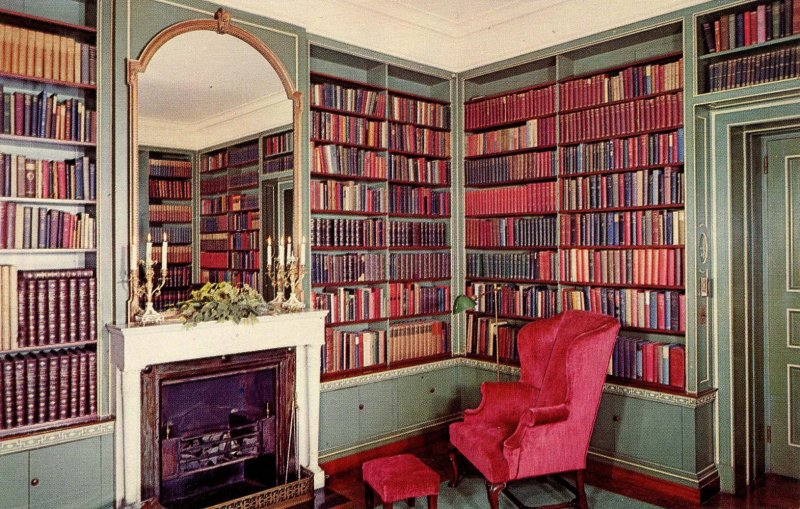 NY - Rochester. George Eastman House, Corner of Book Room