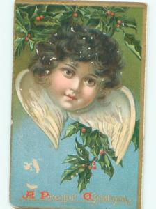 Pre-Linen Christmas LARGE FACE OF CUPID ANGEL AB5697