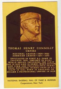 P73 JL postcard 1957 thomas h connolly baseball hall of fame