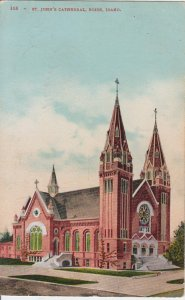 BOISE ID - Artist view of ST JOHN'S CATHEDRAL / 1907 - NOT BUILT AS SHOWN !