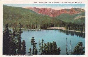 Colorado Denver Mountain Parks Echo Lake Looking Towards Mount Evans