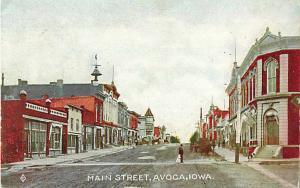 Main Stree in Avoca Iowa IA 1909 Divided Back
