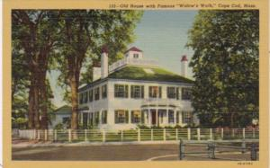 Massachusetts Cape Cod Old House With Famous Widow's Walk 1945 Curteich