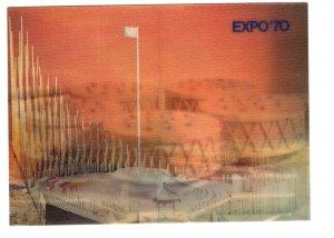 Expo '70 World's Fair, Japan, Vintage 3D  Postcard,