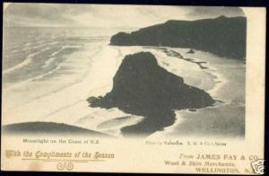 new zealand, Moonlight on Coast (1900s) Special Edition