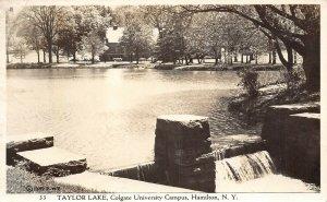 LP53  RPPC  Hamilton New York View  Vintage Postcard Taylor Lake Colgate Univ