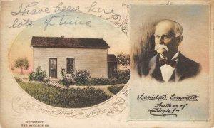 The Emmett Home, Mt. Vernon, Ohio ca 1920s Hand-Colored Vintage Postcard