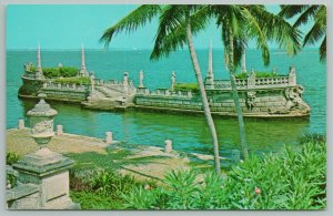 Miami Florida~Vizcaya~Built By James Derring~Stone Barge Breakwater~Vintage PC