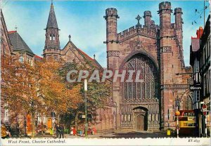 Modern Postcard West Front Chester Cathedral