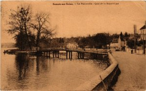 CPA SAMOIS-sur-SEINE - La Passerelle - Quai de la Republique (292963)