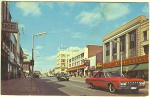 Pontiac MI Main Street Storefronts 5 & 10 Store Old Cars Postcard