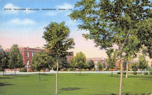 Moorhead Minnesota~State Teachers' College~View Across Campus~1940s Linen PC