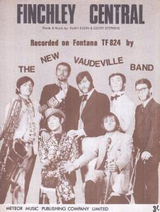 Finchley Central The New Vaudeville Band 1960s Sheet Music