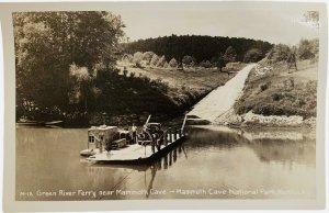 Vintage RPPC- Green River Ferry Near Mammoth Cave National Park Kentucky