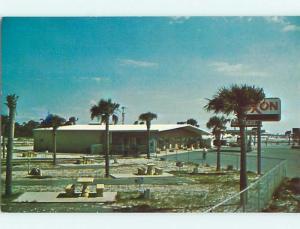 Unused Pre-1980 EXXON GAS STATION PLEDGER'S MOTEL Panama City Beach FL u6658