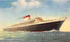 Leonard Da Vinci Nord America Ship Postcard Post Card unused