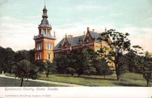 Gentlemen's Country Home, Sweden, early postcard, Unused