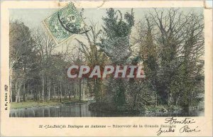 Old Postcard The Bois de Boulogne in Reservoir Fall of the Great Cascade