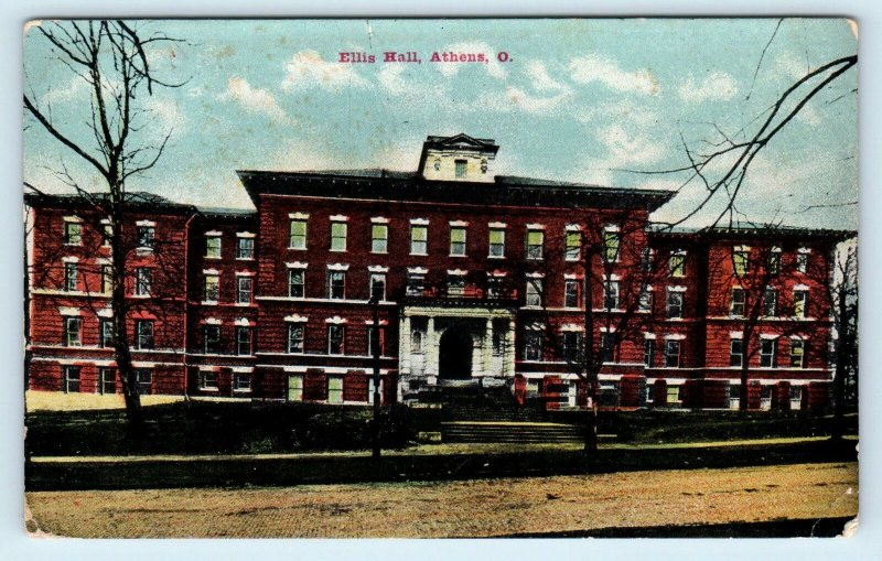 ATHENS, OH ~ Ellis Hall OHIO UNIVERSITY   c1910s  Athens County Postcard
