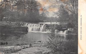 Canadensis Pennsylvania~Spruce Cabin Dam~Spillway~1914 B&W GV Millar Postcard