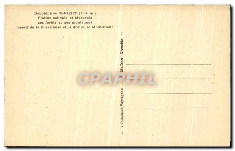 Old Postcard Dauphine St Nizier Station